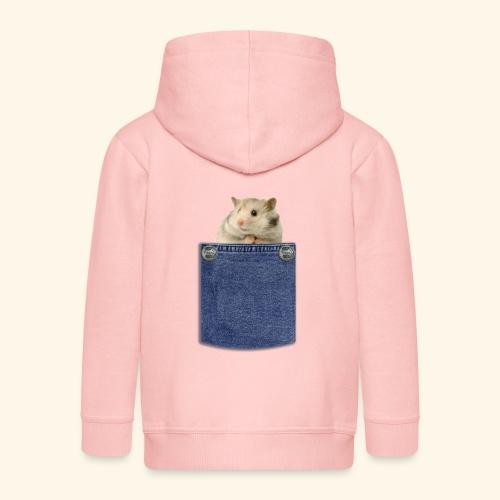 hamster in the poket - Felpa con zip Premium per bambini
