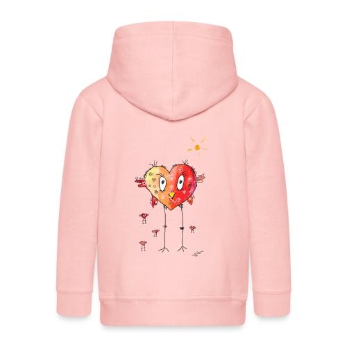 Happy heart - Kinder Premium Kapuzenjacke