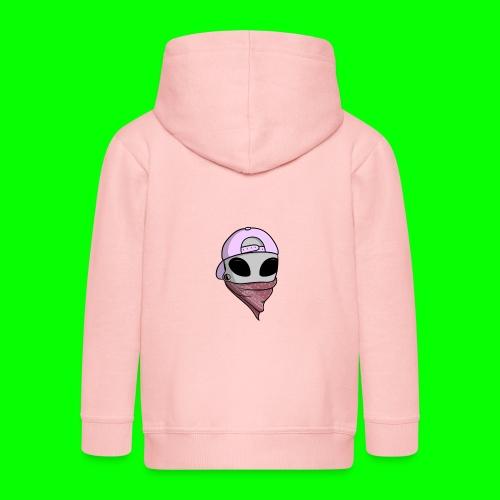 gangsta alien logo - Felpa con zip Premium per bambini