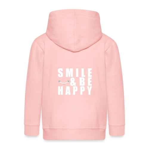 SMILE AND BE HAPPY - Kids' Premium Hooded Jacket
