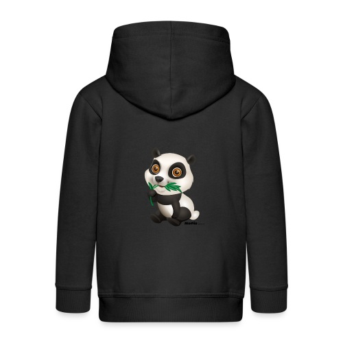 Panda - Rozpinana bluza dziecięca z kapturem Premium
