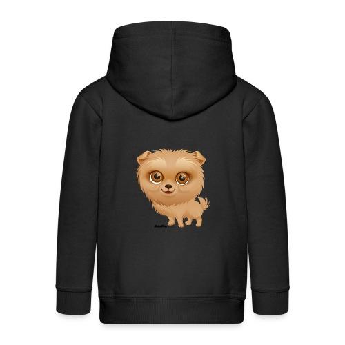 Dog - Rozpinana bluza dziecięca z kapturem Premium