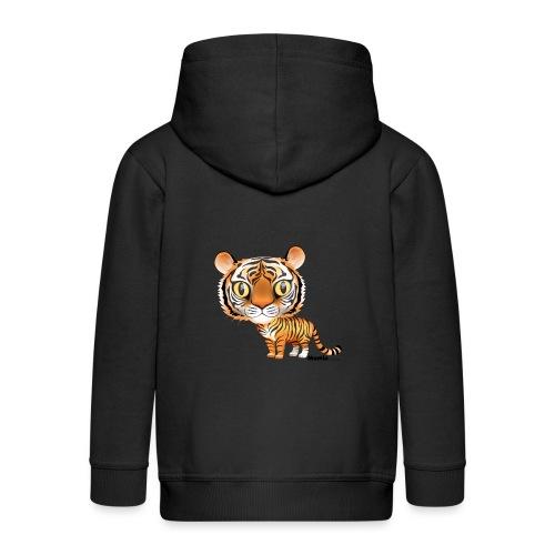 Tygrys - Rozpinana bluza dziecięca z kapturem Premium
