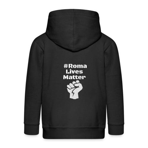Fist Roma Lives Matter - Kinder Premium Kapuzenjacke
