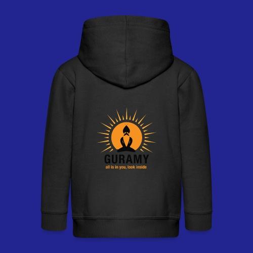 final nero con scritta - Kids' Premium Hooded Jacket
