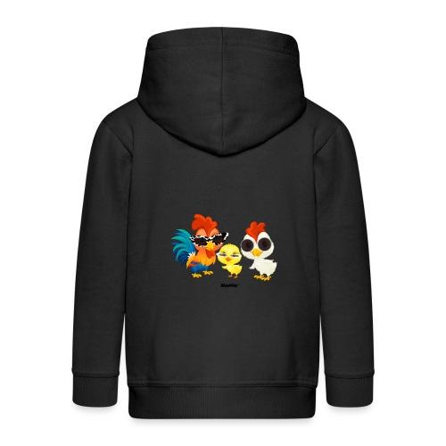Kurczak - autorstwa Momio Designer Emeraldo. - Rozpinana bluza dziecięca z kapturem Premium