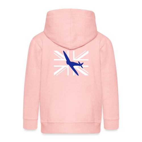 ukflagsmlWhite - Kids' Premium Zip Hoodie