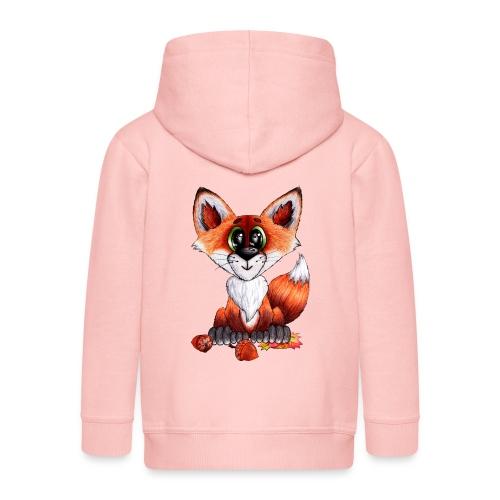 llwynogyn - a little red fox - Kinder Premium Kapuzenjacke