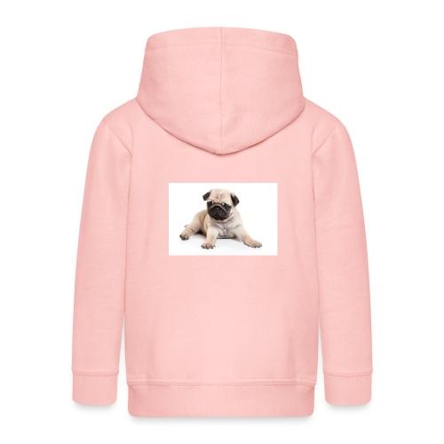 mopshond afdruk/print - Kinderen Premium jas met capuchon