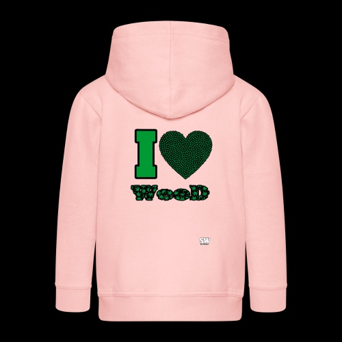 I Love weed - Veste à capuche Premium Enfant