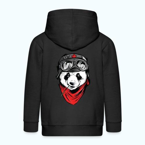 Panda pilot - Kids' Premium Zip Hoodie