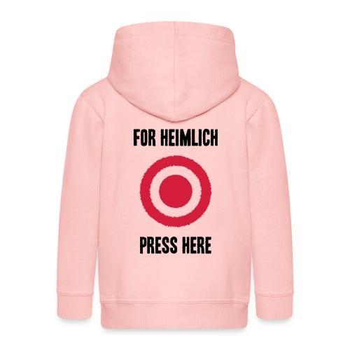 For Heimlich Press Here - Kids' Premium Hooded Jacket