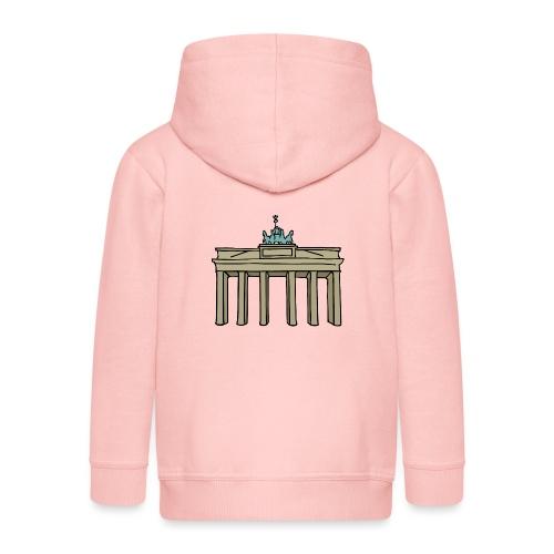 Brama Brandenburska BERLIN c - Rozpinana bluza dziecięca z kapturem Premium