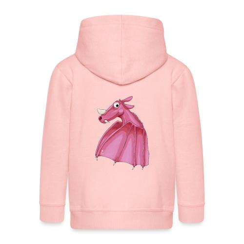 Roze fantasie draak - Kids' Premium Zip Hoodie