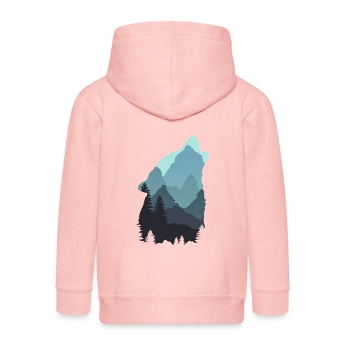 Wolf - Kids' Premium Hooded Jacket