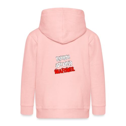 Einen an der Marmel - Schriftzug - Kinder Premium Kapuzenjacke