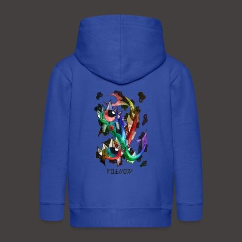 Poisson multi-color - Veste à capuche Premium Enfant