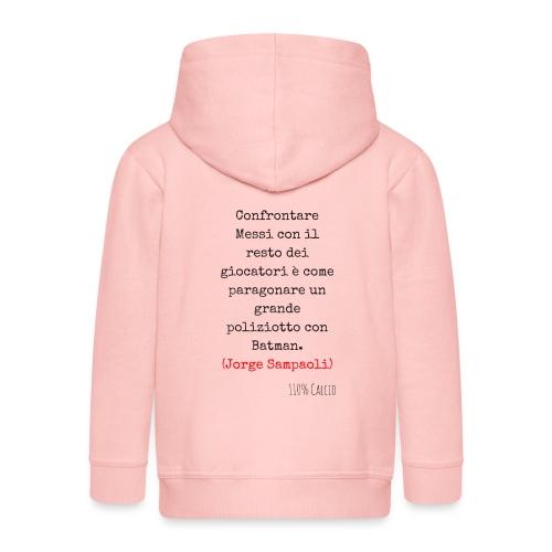 maglia 110 messi png - Felpa con zip Premium per bambini