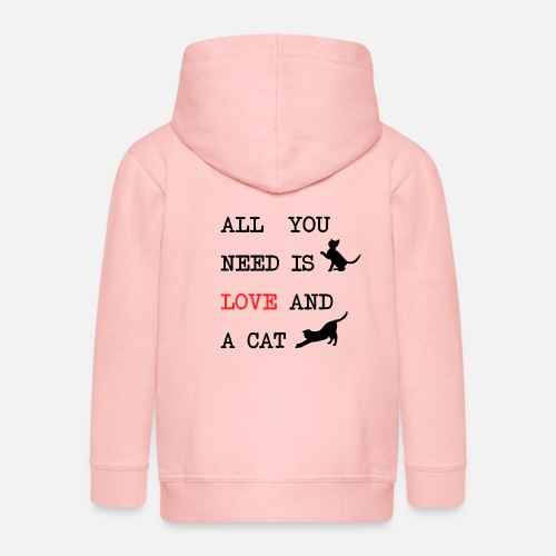 All You Need is Love and a Cat - Kinderen Premium jas met capuchon