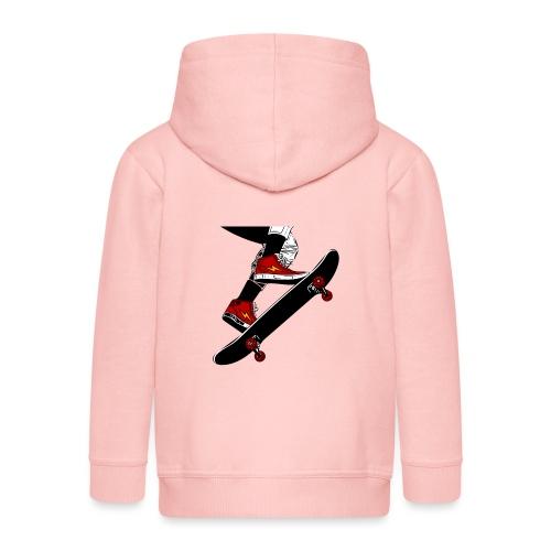 Skating - Felpa con zip Premium per bambini