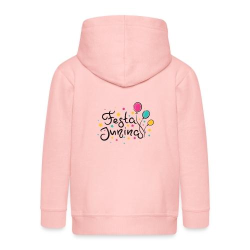 Encontro balao de festa junina - Kids' Premium Hooded Jacket