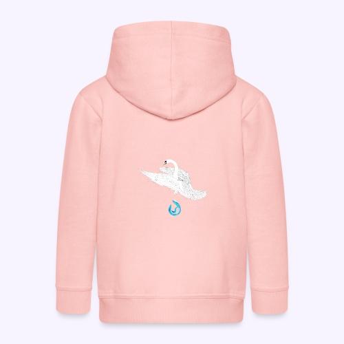 swan - Felpa con zip Premium per bambini