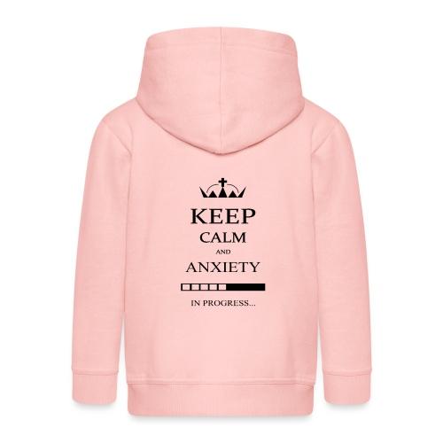 keep_calm - Felpa con zip Premium per bambini