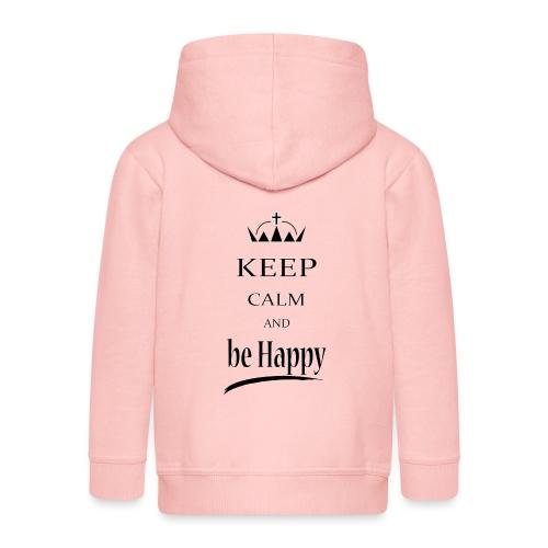 keep_calm and_be_happy-01 - Felpa con zip Premium per bambini