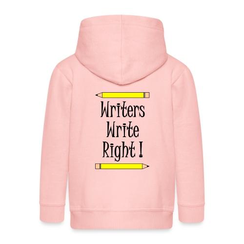 Writers Write Right - Kids' Premium Zip Hoodie