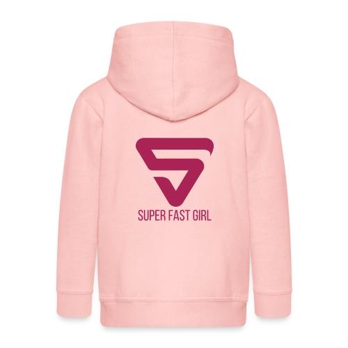 Super Fast Girl - Veste à capuche Premium Enfant