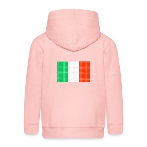 italian flag - Felpa con zip Premium per bambini