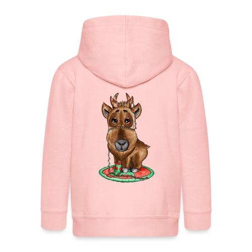 Reindeer refined scribblesirii - Kinder Premium Kapuzenjacke