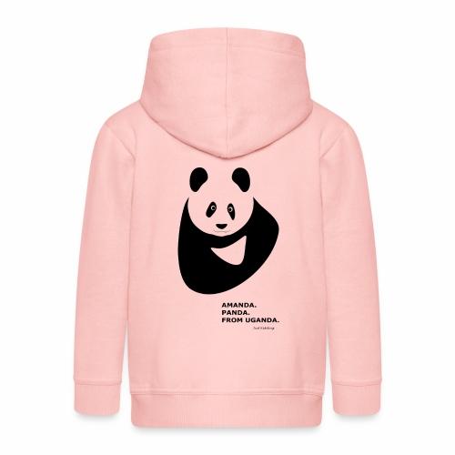 Panda from Uganda - Kids' Premium Zip Hoodie