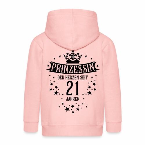 16 Prinzessin der Herzen seit 21 Jahren Geburtstag - Kinder Premium Kapuzenjacke