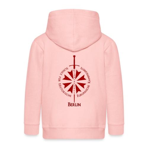 T shirt front B - Kinder Premium Kapuzenjacke