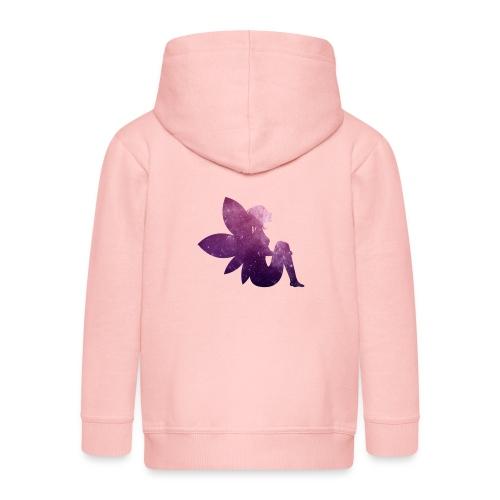 Purple fairy - Premium Barne-hettejakke