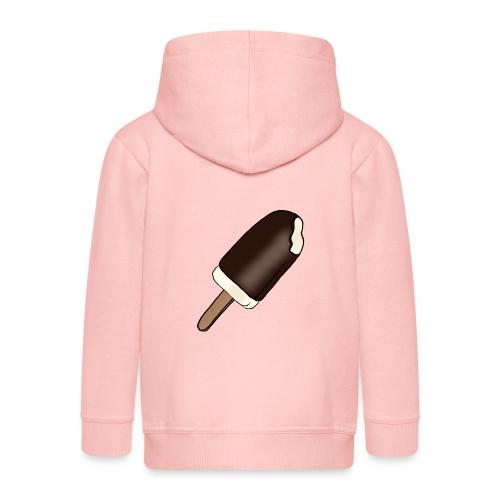 Eis am Stiel mit Schokoladenüberzug - Kinder Premium Kapuzenjacke
