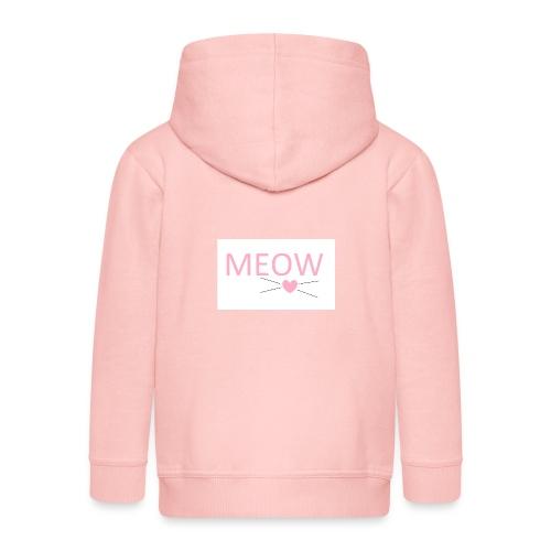 MEOW - Rozpinana bluza dziecięca z kapturem Premium