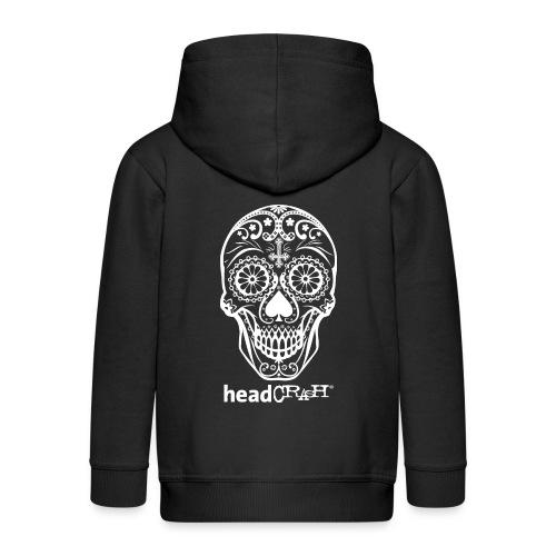 Skull & Logo white - Kinder Premium Kapuzenjacke
