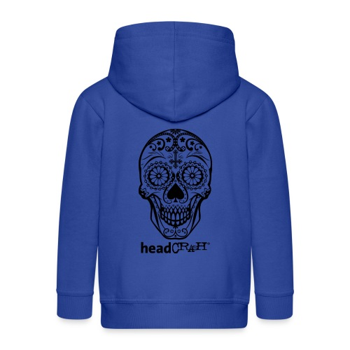 Skull & Logo black - Kinder Premium Kapuzenjacke