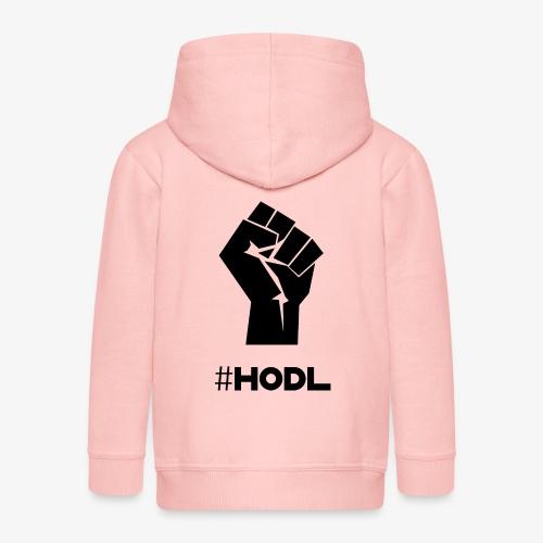 HODL-fist-b - Kids' Premium Zip Hoodie