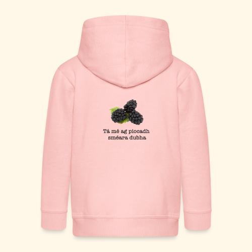 Picking blackberries - Kids' Premium Hooded Jacket