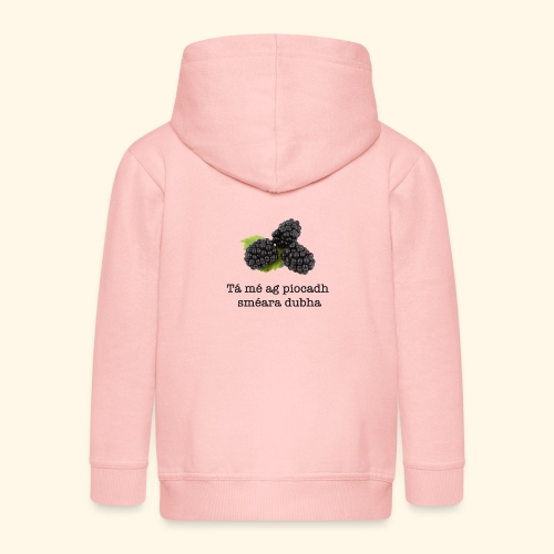 Picking blackberries - Kids' Premium Zip Hoodie