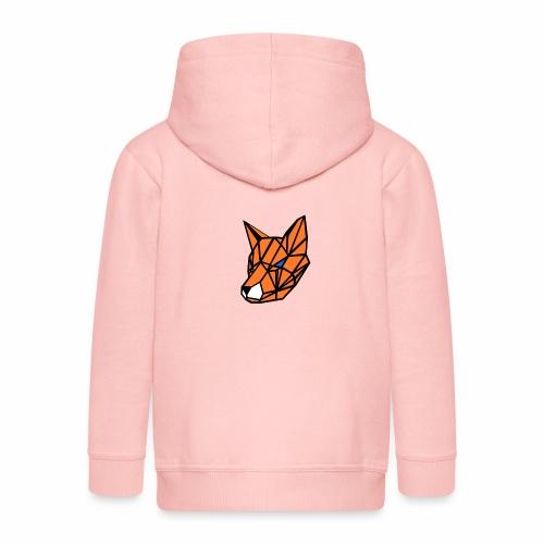 renard geometrique - Veste à capuche Premium Enfant