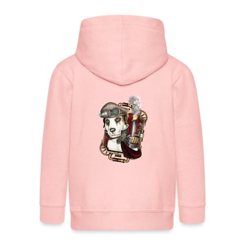 Steampunk Dog #1 - Felpa con zip Premium per bambini