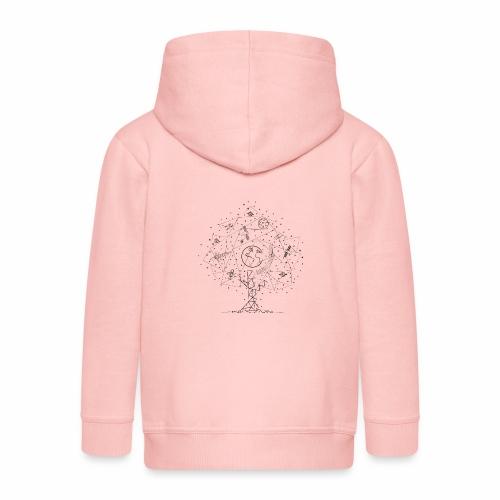 Interpretacja woodspace - Rozpinana bluza dziecięca z kapturem Premium