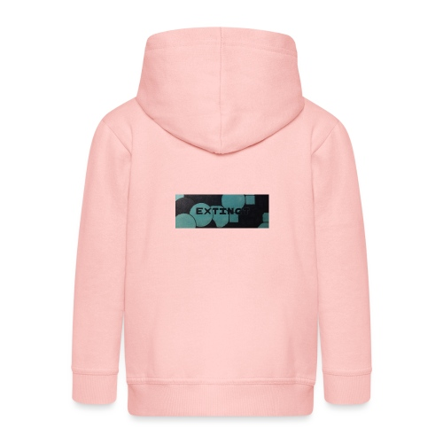 Extinct box logo - Kids' Premium Zip Hoodie