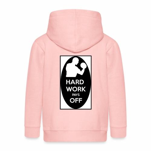 hard work pays off 2 cup.jpg - Kids' Premium Hooded Jacket