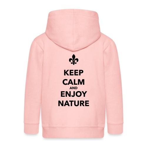 Keep calm an enjoy nature - Farbe frei wählbar - Kinder Premium Kapuzenjacke