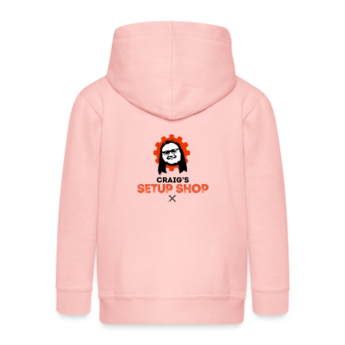 Craigs Setup Shop on White - Kids' Premium Zip Hoodie